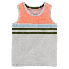 Toddler Boy Carter's Striped Pocket Tank Top