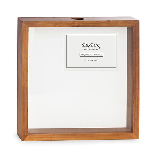 Bey-Berk Cork Shadow Box with Picture Frame