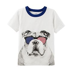 Toddler Boy Carter's Bulldog in Sunglasses Graphic Tee