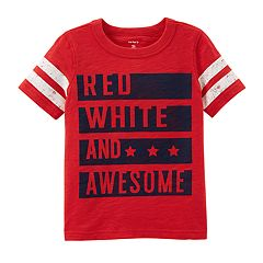 Toddler Boy Carter's 'Red, White & Awesome' Graphic Tee