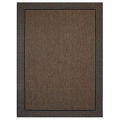 Studio by Brown Jordan Charleston Framed Solid Indoor Outdoor Rug