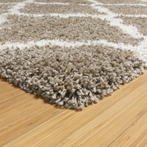 Laura Ashley Luxury Tile Trellis Shag Rug