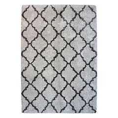 Laura Ashley Lifestyles Luxury Tile Trellis Shag Rug