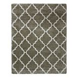 Laura Ashley Luxury Tile Trellis Shag Rug