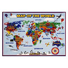 Smithsonian 'Map of the World' Rug