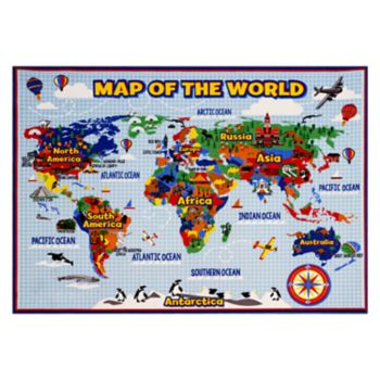 """Smithsonian """"Map of the World"""" Rug"""