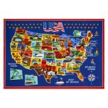 "Smithsonian ""USA"" Map Rug"