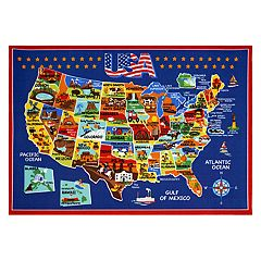 Smithsonian 'USA' Map Rug
