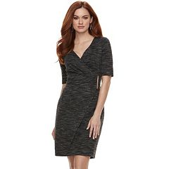 Women's Jennifer Lopez Faux-Wrap Sheath Dress
