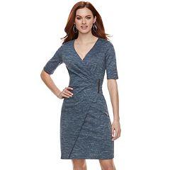 Women's Jennifer Lopez Faux-Wrap Sheath Dress