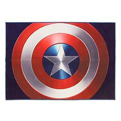 Marvel Captain America Shield Rug - 4'6' x 6'6'