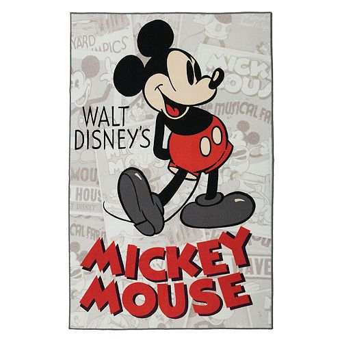 "Disney's Mickey Mouse Classic Retro Rug - 4'6"" x 6'6"""