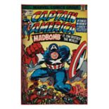 "Marvel Captain America Comic Retro Rug - 4'6"" x 6'6"""