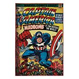 "Marvel Captain America Comic Retro Rug - 4'6"" x 6'6"""