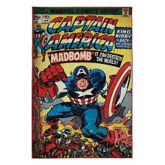 Marvel Captain America Comic Retro Rug - 4'6' x 6'6'