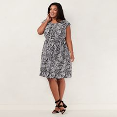 Plus Size LC Lauren Conrad Pleated Shift Dress