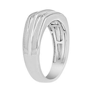 Men's 10k White Gold 1/10 Carat T.W. Diamond Ring