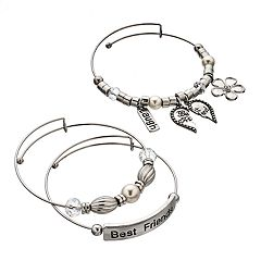 'Best Friends' Bangle Bracelet Set