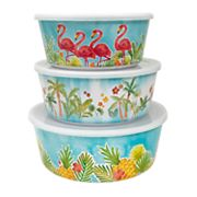 Celebrate Summer Together 3 pc Tropical Stacking Container Set