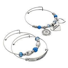 'Mom Is A Forever Friend' Bangle Bracelet Set