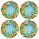 Celebrate Summer Together 4-pc. Pineapple Dinner Plate Set
