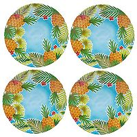 Celebrate Summer Together 4 pc Pineapple Dinner Plate Set