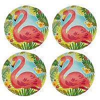 Celebrate Summer Together 4 pc Pineapple Salad Plate Set