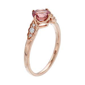 LC Lauren Conrad 10k Rose Gold Tourmaline & 1/10 Carat T.W. Diamond Ring