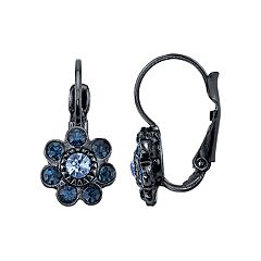 1928 Blue Flower Drop Earrings