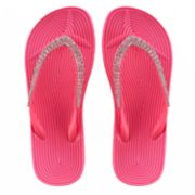 Girls 4-16 Elli by Capelli Rhinestone Woven Jelly Flip Flops