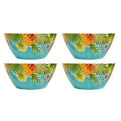 Celebrate Summer Together 4-pc. Pineapple Cereal Bowl Set