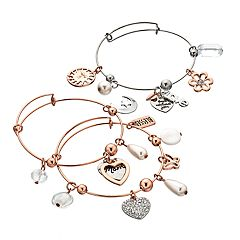 'Mom' Bangle Bracelet Set