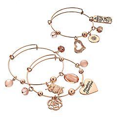 'Daughter Is A Forever Friend' Bangle Bracelet Set