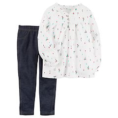 Baby Girl Carter's 2 pc Top & Jegging Set