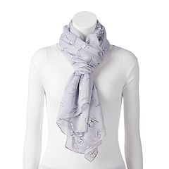 LC Lauren Conrad Floral & Bees Wrap Oblong Scarf