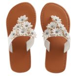Girls 4-16 Elli by Capelli Hooded Daisy Flip Flops