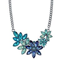 1928 Blue Flower Statement Necklace