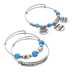 'Believe In Yourself' Bangle Bracelet Set