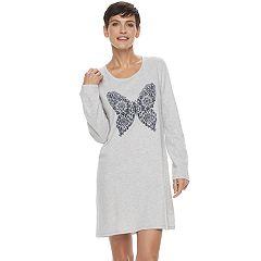 Women's Croft & Barrow® Pajamas: Knit Long Sleeve Sleep Shirt
