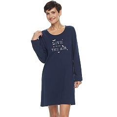 Women's Croft & Barrow® Pajamas: Knit Long Sleeve Sleep Shirt