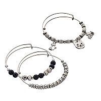 Cat Charm Bangle Bracelet Set