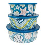 Celebrate Summer Together 3 pc Coastal Stacking Container Set