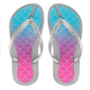 Girls 4-16 Elli by Capelli Mermaid Ombre Jelly Flip Flops