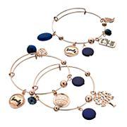 'Let Your Light Shine' Bangle Bracelet Set