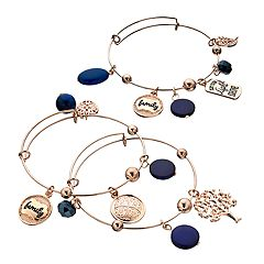 'Let Your Light Shine' Bangle Bracelet Set