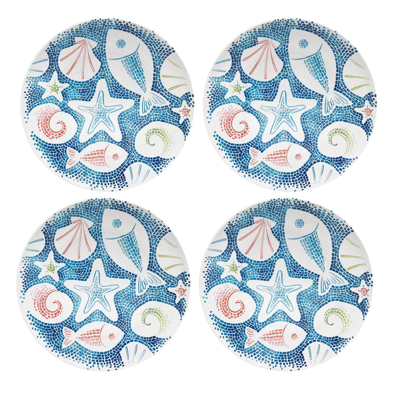 Coastal Dinner Plate Set  sc 1 st  Kohl\u0027s & Celebrate Summer Together 4-pc. Coastal Dinner Plate Set