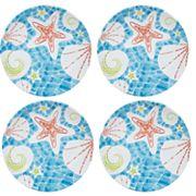 Celebrate Summer Together 4 pc Coastal Salad Plate Set