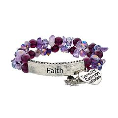 'Angels Watching Over Me' Stretch Bracelet