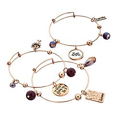 'Sisters' Shaky Bead Bangle Bracelet Set