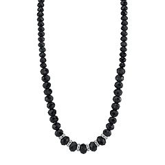 1928 Black Beaded Necklace